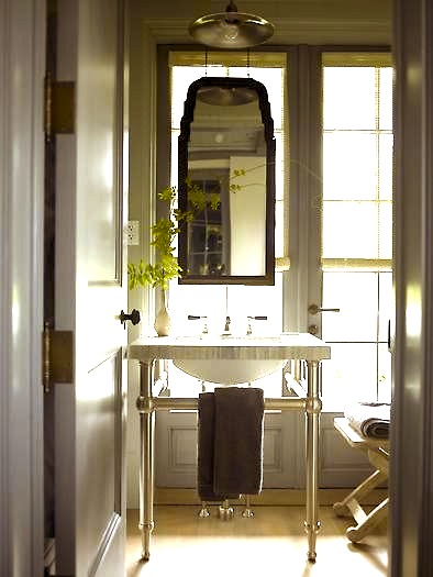 Bathroom Mirror On Window