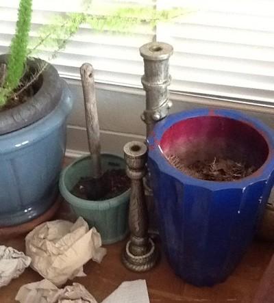 Unpainted pots