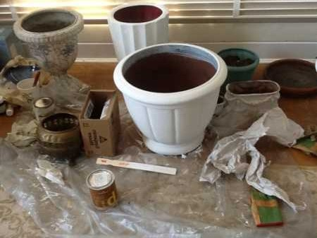 Pots in painting