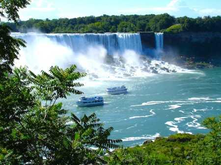 Falls between Canada and USA