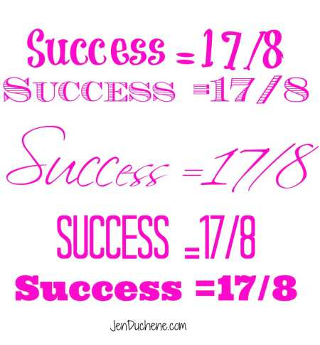 success the word